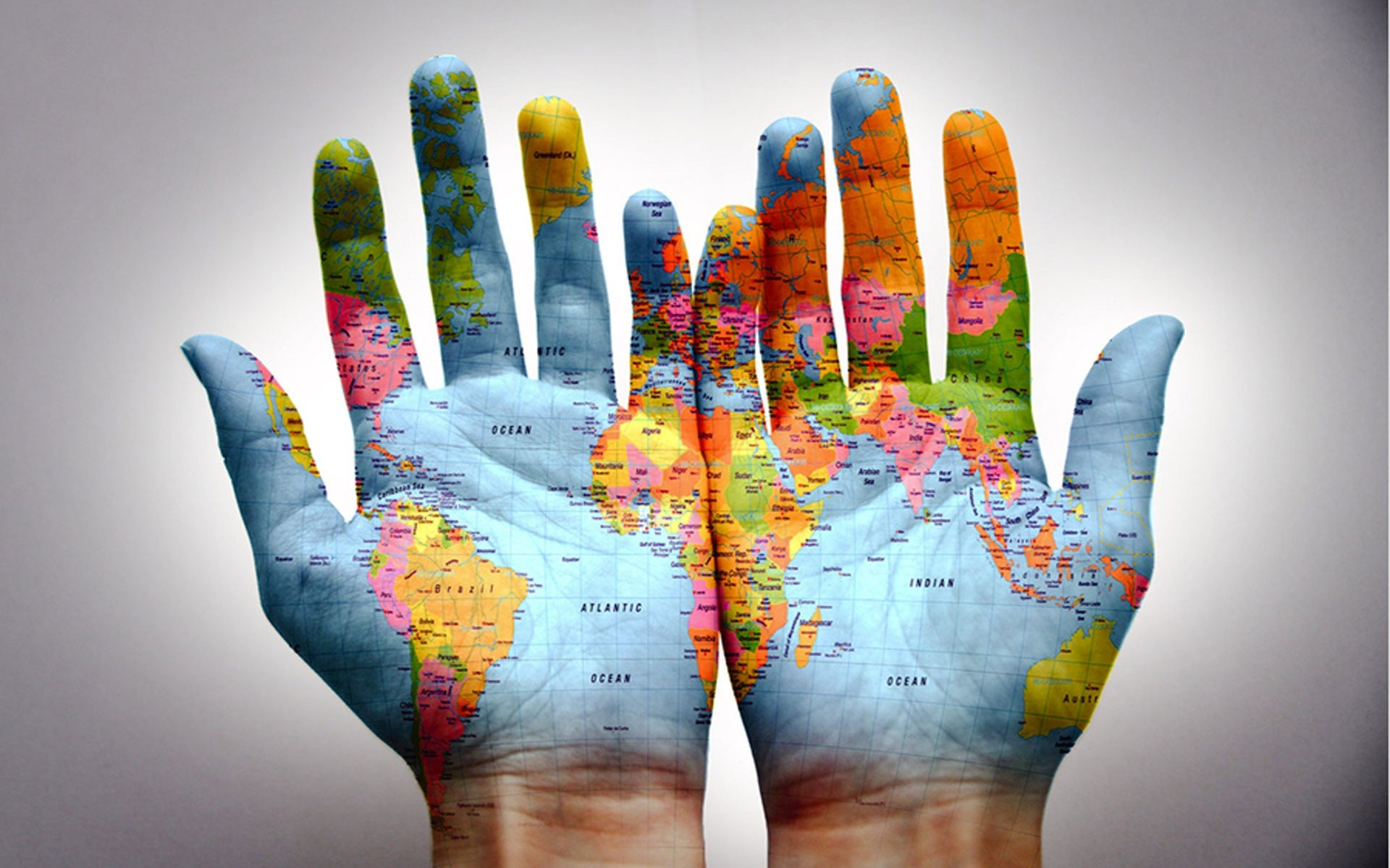 Hands of world